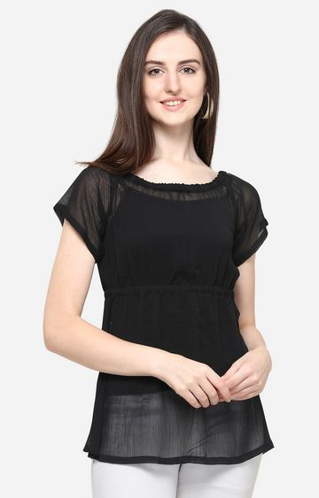 Smarty Pants | Black Solid Top