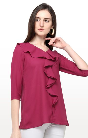 Smarty Pants | Wine Solid Top