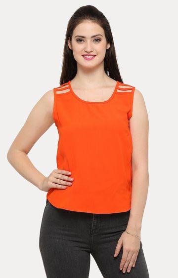 Smarty Pants | Orange Solid Top