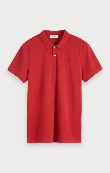 Scotch & Soda | Essentials-Classic polo in pique quality with clean outlook