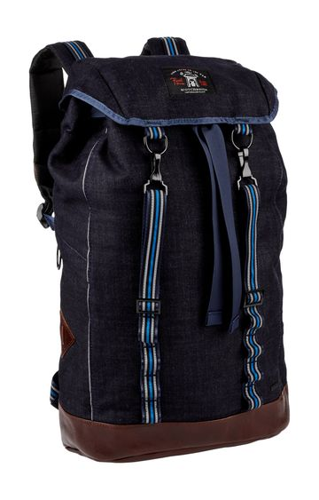 Scotch & Soda | Ams Blauw denim backpack with reflective details
