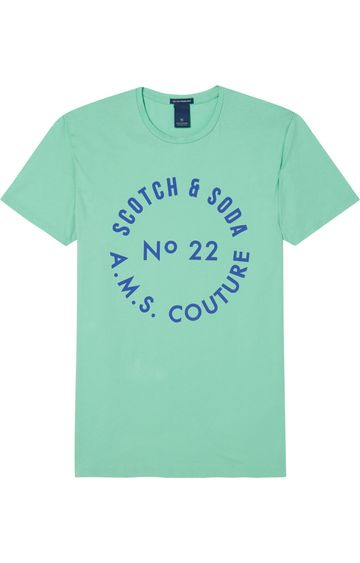 Scotch & Soda | EASY SHORT SLEEVE TEE WITH CHEST PRINT
