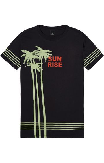 Scotch & Soda | SURFER TEE WITH WASHING AND PLACEMENT PA