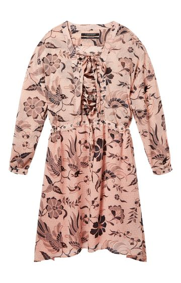 Scotch & Soda   PRINTED SHEER OVERSIZED FIT DRESS WITH L