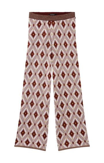 Scotch & Soda | CROPPED WIDE LEG JACQUARD KNITTED PANTS