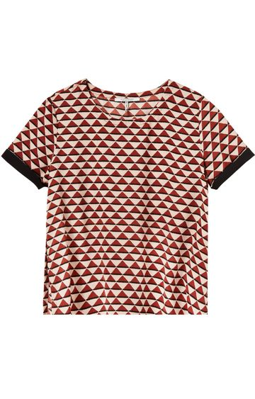Scotch & Soda | SHORT SLEEVE PRINTED TOP WITH CONTRAST P