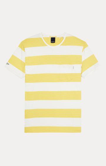 Scotch & Soda | Yellow and White Striped T-Shirt