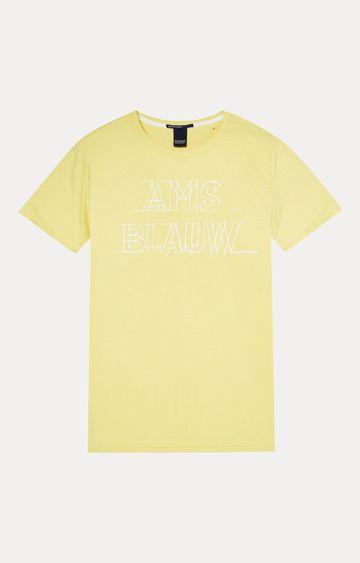 Scotch & Soda | Yellow Printed T-Shirt