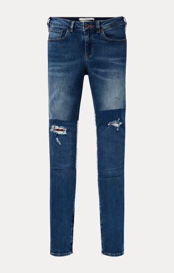 Scotch & Soda | Blue Solid Straight Jeans