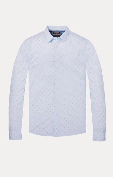 Scotch & Soda | Blue Printed Casual Shirt