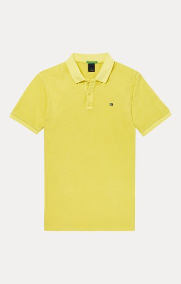 Scotch & Soda | Yellow Solid Polo T-Shirt