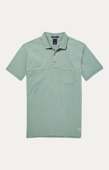 Scotch & Soda | Green Melange Polo T-Shirt