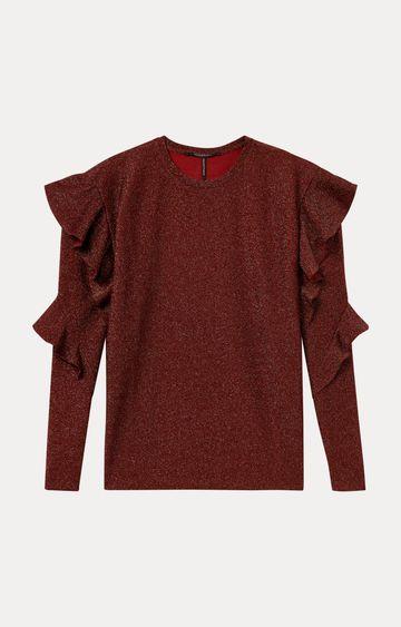 Scotch & Soda | Maroon Melange T-Shirt