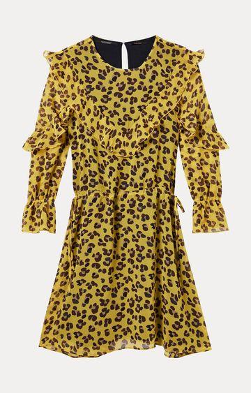 Scotch & Soda | Yellow Printed Skater Dress