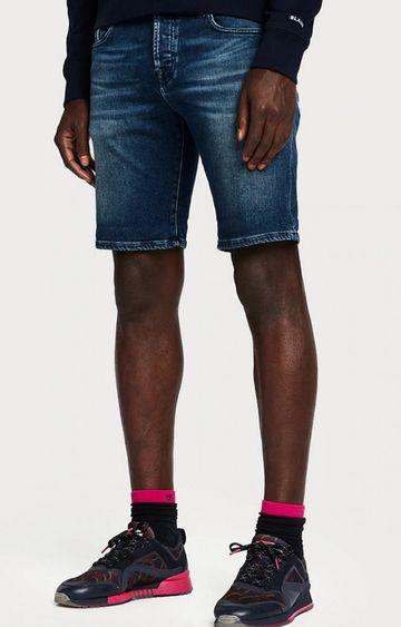 Scotch & Soda | Blue Solid Shorts