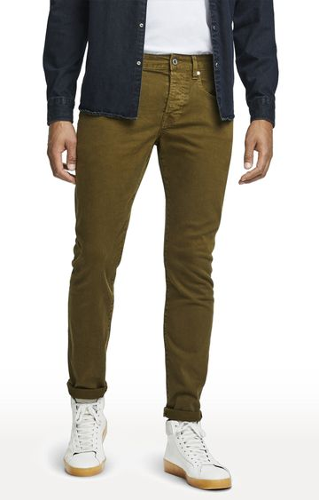 Scotch & Soda | Military Green Solid Ralston Jeans