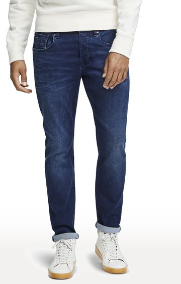 Scotch & Soda | Blue Solid Ralston Jeans