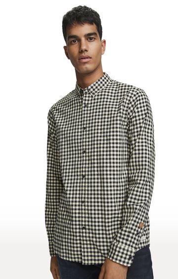 Scotch & Soda   Black Checked Dobby Oxford Casual Shirt