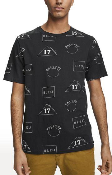 Scotch & Soda   Black Printed T-Shirt