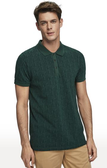 Scotch & Soda | Olive Printed Polo T-Shirt