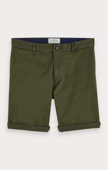 Scotch & Soda | Green Solid Shorts
