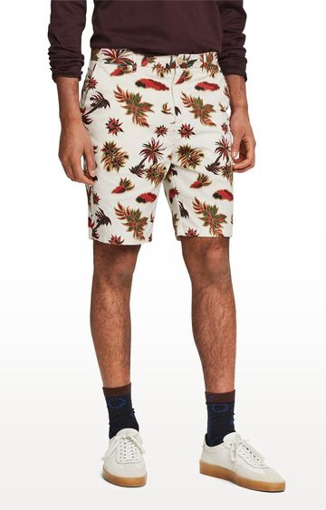 Scotch & Soda | White Printed Shorts