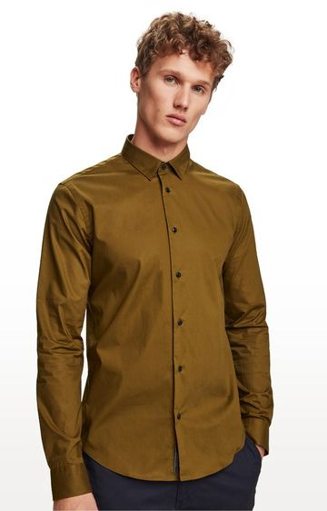 Scotch & Soda | Olive Solid Casual Shirt