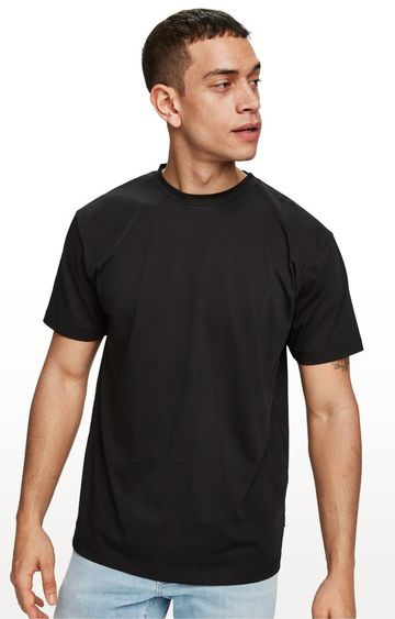 Scotch & Soda | Black Printed Regular Fit T-Shirt