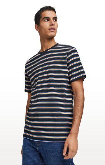 Scotch & Soda | Navy Striped Regular Fit T-Shirt
