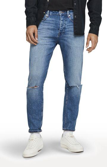 Scotch & Soda | Blue Ripped Dean Jeans