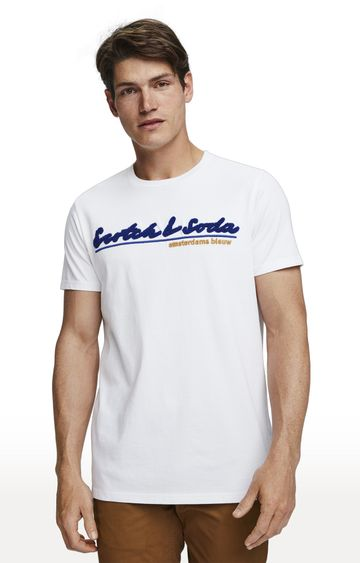 Scotch & Soda | White Printed T-Shirt