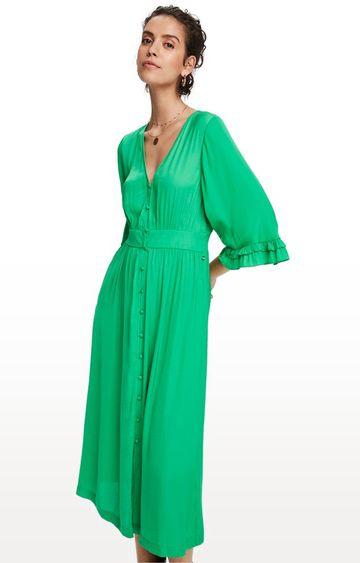 Scotch & Soda | Tikki Green Solid Shift Dress