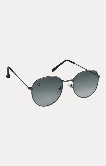 Walrus | Metallic Grey Oval Sunglasses