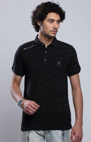 883 Police | Black Melange T-Shirt