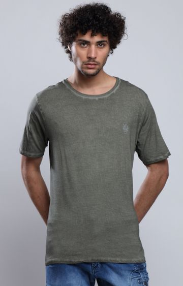 883 Police | Green Melange T-Shirt