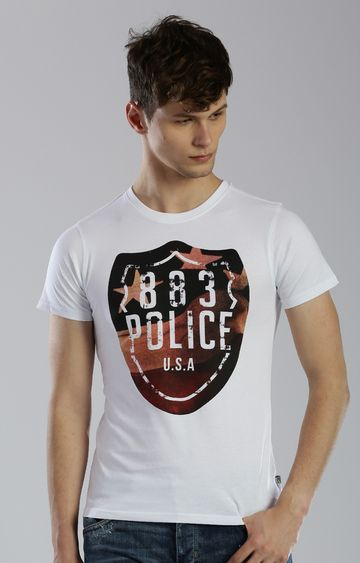 883 Police | White Printed T-Shirt
