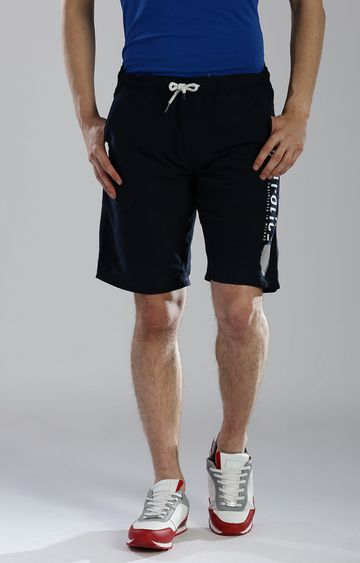 883 Police | Navy Solid Shorts