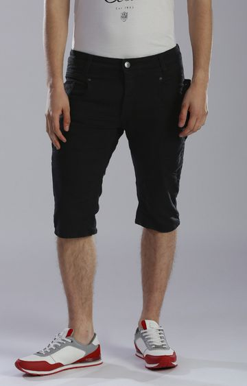 883 Police | Black Solid Shorts