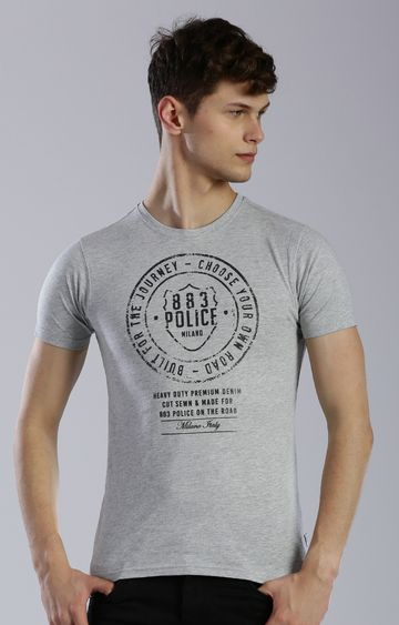 883 Police | Grey Printed T-Shirt