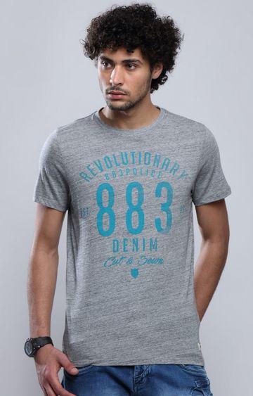 883 Police | Grey Printed T-Shirt