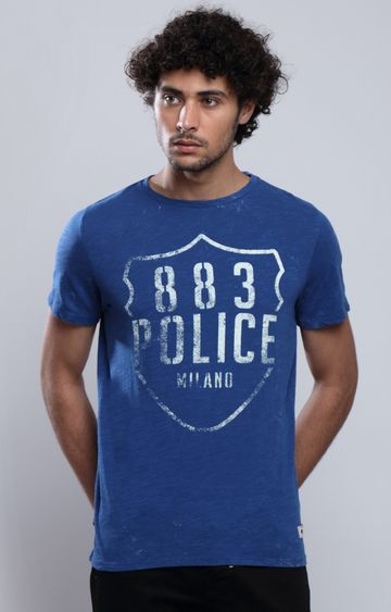 883 Police | Blue Printed T-Shirt
