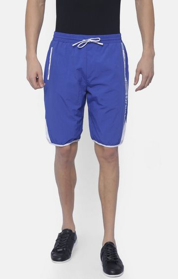 883 Police | Blue Solid Boardshorts