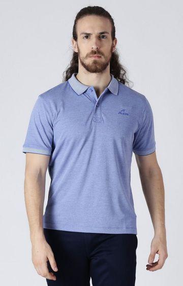 ALCIS   Blue Melange Polo T-Shirt