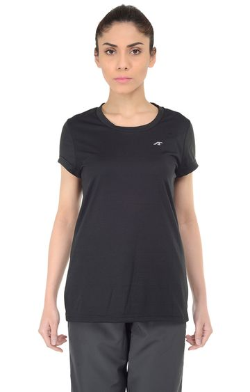 ALCIS | ALCIS Black Solid T-Shirt