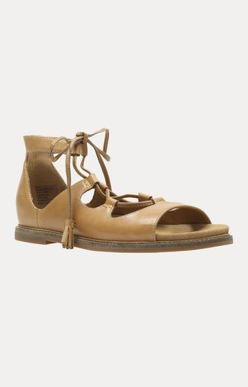 Clarks   Corsio Bambi Light Tan Leather Sandals