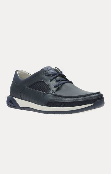 Clarks | ORMAND SAIL NAVY LEATHER