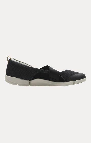 Clarks   Tri Allie Black Combi Shoes
