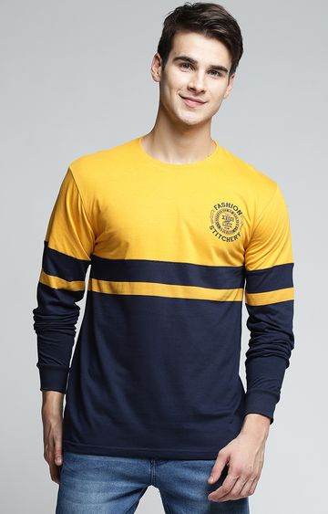 Difference of Opinion | Mustard Colourblock T-Shirt