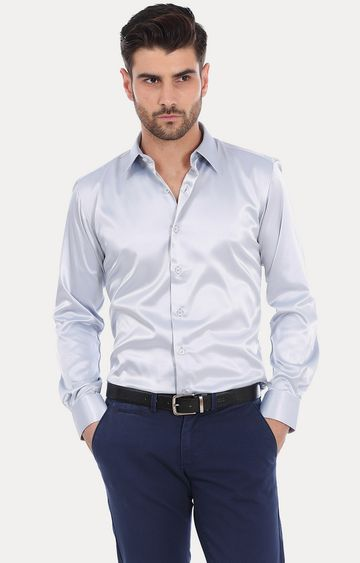 Basics   Blue Solid Formal Shirt