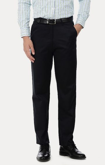 Basics | Black Flat Front Formal Trousers